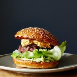 Burger bacon, piment, avocat